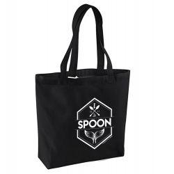 Sac Shopping NOIR Logo Spoon