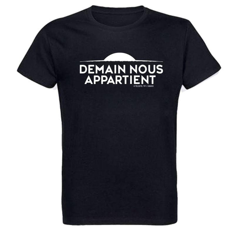 T shirt NOIR Logo Demain Nous Appartient Monochrome Blanc