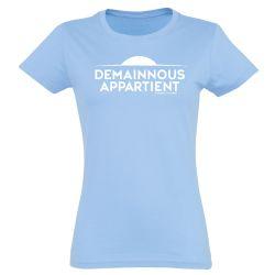 T shirt Femme CIEL Logo Demain Nous Appartient Monochrome Blanc